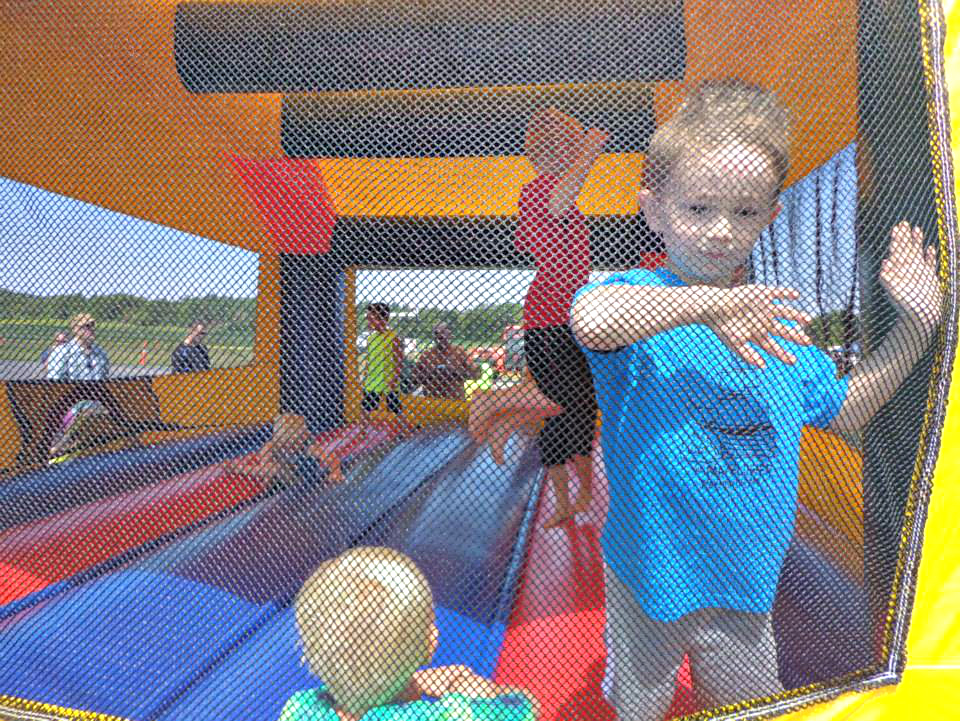 A bounce house provided by Ryan Short Entertainment was one of the more popular attractions at Big Toy Day 2013.