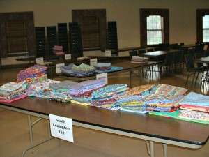 Stitch for Students volunteers produced more than enough nap blankets this year to give to Pre-Kindergarten students at 13 different schools.