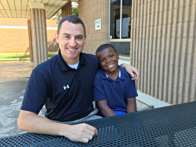 Matt Swift joins Cory, a fourth grade student at Southwest Elementary School, for lunch at least once a week.