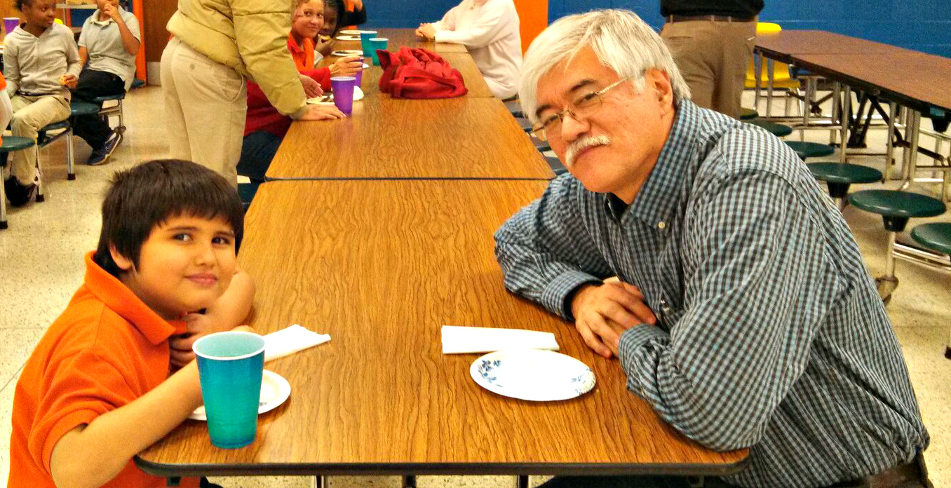 Phil Mickey, a 12-year veteran of the CIS program, recently began meeting with Marcos at Southwest Elementary School.